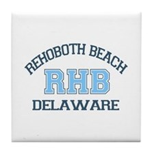 Rehoboth Beach DE - Varsity Design Tile Coaster