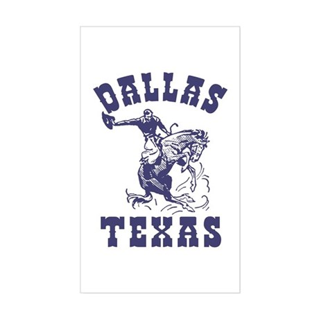 Dallas Texas Rectangle Sticker