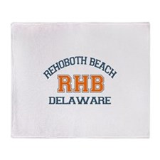 Rehoboth Beach DE - Varsity Design Throw Blanket