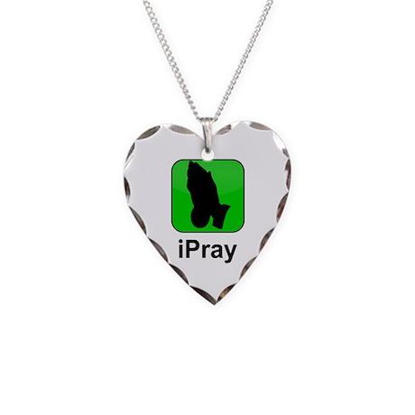 iPray Necklace Heart Charm