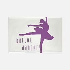 Cute Ballerina girl Rectangle Magnet