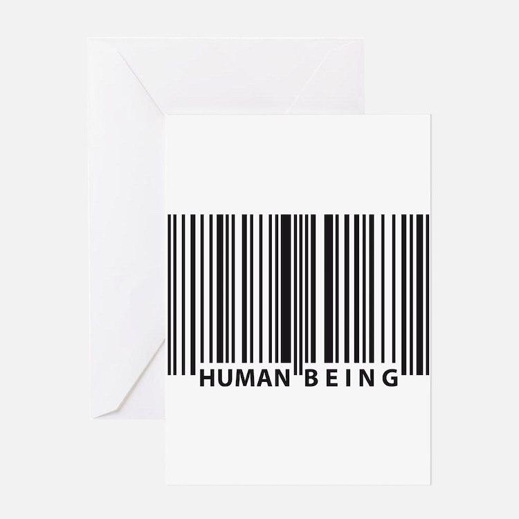 Cute Human barcode Greeting Card
