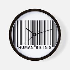 Cute Human barcode Wall Clock