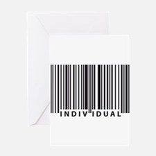 Funny Human barcode Greeting Card