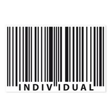 Unique Human barcode Postcards (Package of 8)