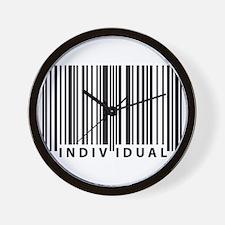 Funny Human barcode Wall Clock