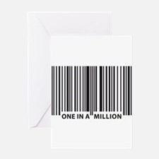 Unique Human barcode Greeting Card