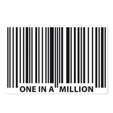 Funny Human barcode Postcards (Package of 8)