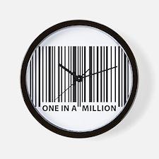 Unique Human barcode Wall Clock