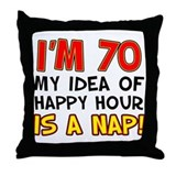 70th birthday Throw Pillows