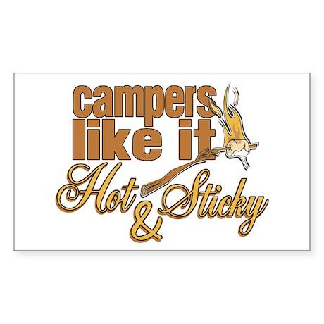 Hot & Sticky Campers Sticker (Rectangle)
