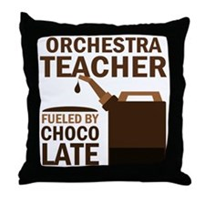 Funny Orchestra Teacher Throw Pillow