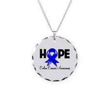 Hope Colon Cancer Necklace Circle Charm