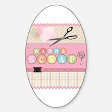 Scrapbooking Oval Decal