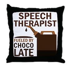 Funny Speech Therapist Throw Pillow
