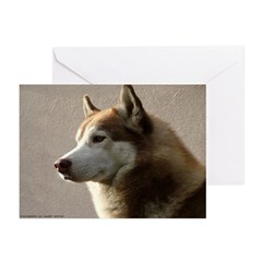 Siberian Husky Prints Greeting Cards (Pk of 10