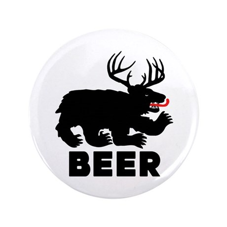 "BEER - Bear/Deer Combo 3.5"" Button (100 pack)"