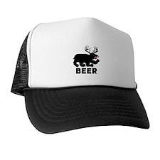 BEER - Bear/Deer Combo Trucker Hat