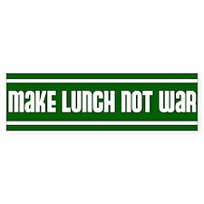 make lunch not war Bumper Sticker