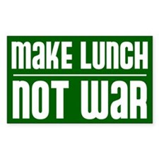 make lunch not war Decal