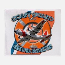 US Coast Guard Semper Paratus Throw Blanket