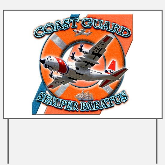US Coast Guard Semper Paratus Yard Sign