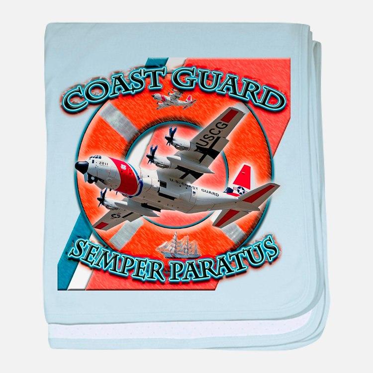 US Coast Guard Semper Paratus baby blanket