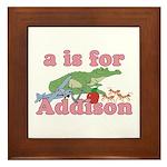 A is for Addison Framed Tile