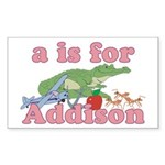 A is for Addison Sticker (Rectangle 10 pk)