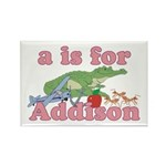 A is for Addison Rectangle Magnet (10 pack)