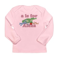 A is for Alexa Long Sleeve Infant T-Shirt