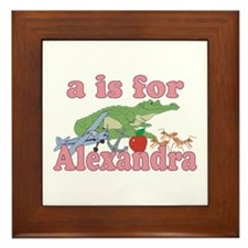 A is for Alexandra Framed Tile