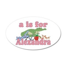 A is for Alexandra 22x14 Oval Wall Peel