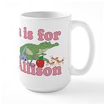 A is for Allison Large Mug