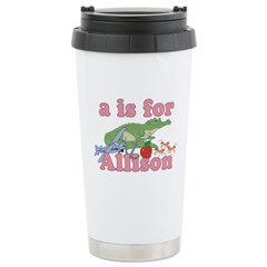 A is for Allison Stainless Steel Travel Mug