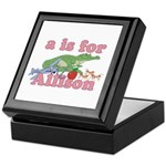A is for Allison Keepsake Box