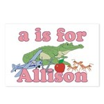 A is for Allison Postcards (Package of 8)