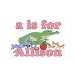 A is for Allison 38.5 x 24.5 Wall Peel