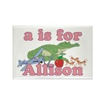 A is for Allison Rectangle Magnet (10 pack)