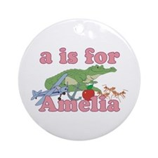 A is for Amelia Ornament (Round)