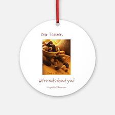 Dear Teacher Customizable Ornament (Round)