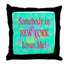 Somebody in New York Loves Me Throw Pillow