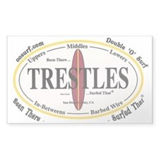 Trestles Surf Spots Rectangle Decal
