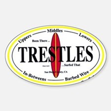 Trestles Surf Spots Oval Decal