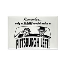 The Pittsburgh Left Rectangle Magnet