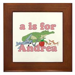 A is for Andrea Framed Tile