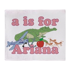 A is for Ariana Throw Blanket