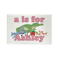 A is for Ashley Rectangle Magnet