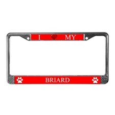 Red I Love My Briard Frame