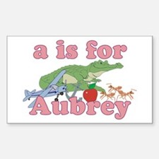 A is for Aubrey Sticker (Rectangle)